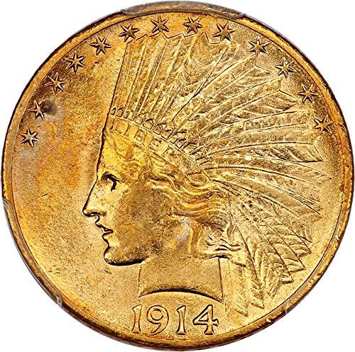 1914 S $10 Indian Gold Ten Dollar MS62 PCGS
