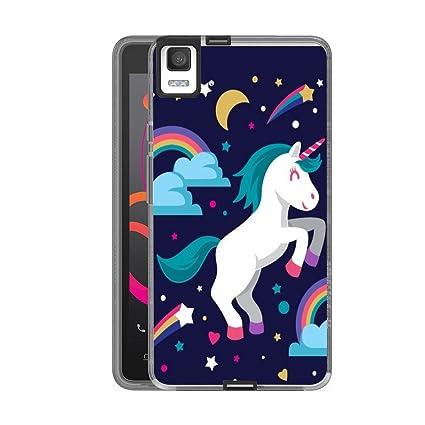 Reshias BQ Aquaris E5 Funda Unicornio Que rebota Soft Ligera Gel TPU Silicona Protectorae Teléfono Carcasa para BQ Aquaris E5