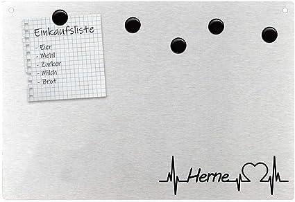 Pizarra magnética para pared, diseño de corazón y corazón: Amazon.es: Oficina y papelería
