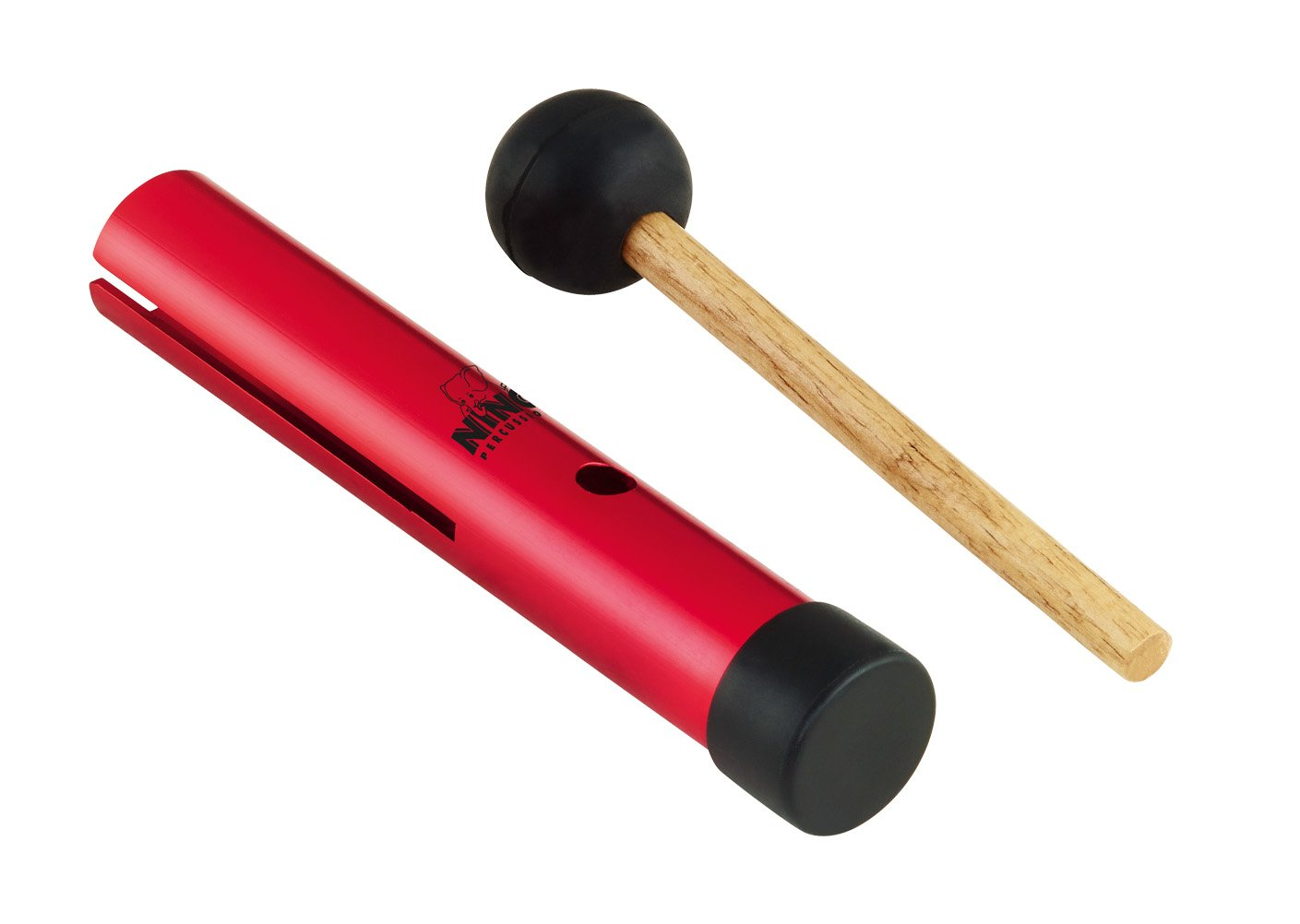 Nino Handheld Wah-Wah Tube with Mallet Red NINO602R