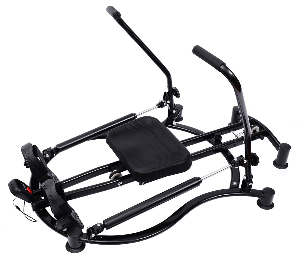 Tenive Adjustable Fitness Home Workout Rower Glider Machine