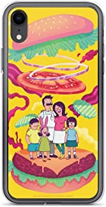 Poreas Compatible with iPhone XR Case Bob's Burgers Family Colorful Food Animated Series Pure Clear Phone Cases Cover
