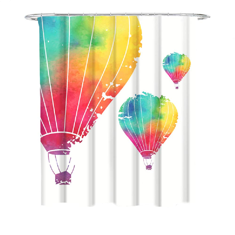 Balloon House Polyester Waterproof Bathroom Fabric Shower Curtain 12 Hook