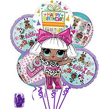 LOL Party Supplies Birthday Balloon Orbz Bouquet Decorations With Ribbon