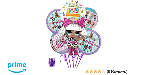 Amazon LOL Party Supplies Birthday Balloon Orbz Bouquet Decorations With Ribbon Toys Games