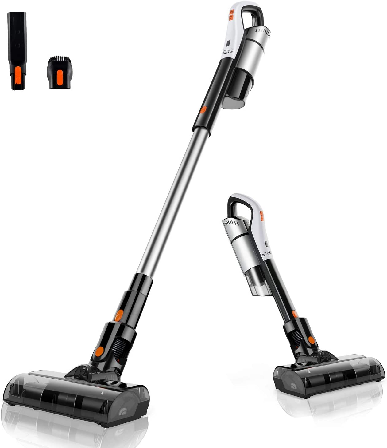Cordless Vacuum Rugs Upgrade Lightweight Stick Vacuum for Hard Floors APOSEN Pet Vacuum Cleaner with Extension Wand /& Detachable Battery