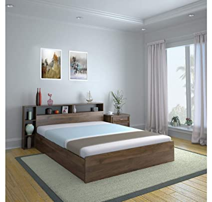 Home By Nilkamal Torrie King Size Bed With Box Headboard Storage
