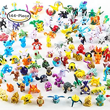 Pokemon Miniature Action Figures 144 Piece Mini Cute 2 3cm