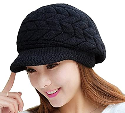 f7b7b40eec34d2 Cuca Dunna Winter Cap Women Knitted Hats Girl Fashion Slouchy Wool Beanie  Ski Berets Hat with