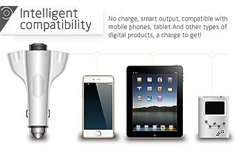 daqin Bluetooth Auriculares Cargador de Coche con Life Martillo: Amazon.es: Electrónica