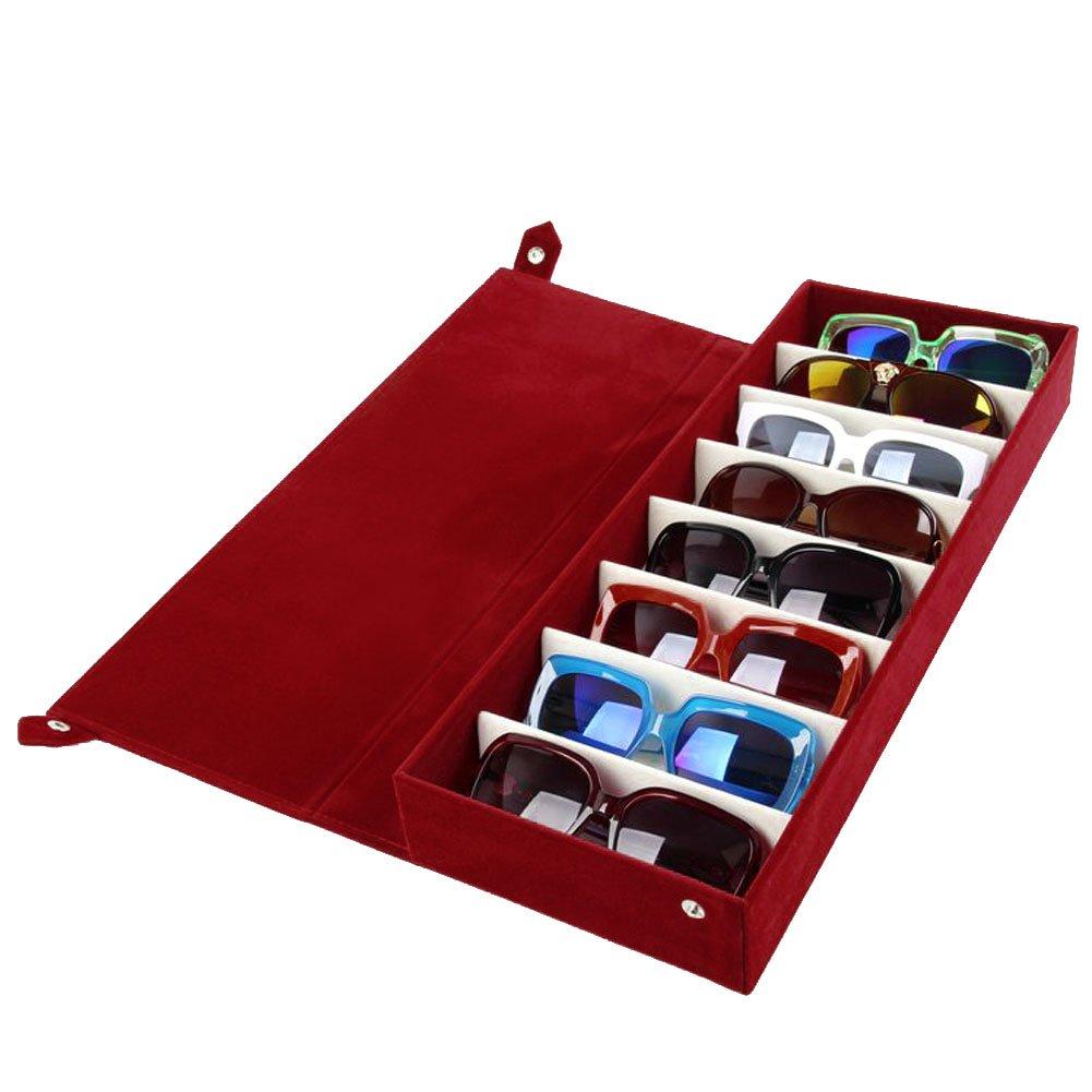 Eyewear Stand Holder Sunglasses Glasses Storage Display Case Stand Holder Jewelry Tray Case Box Organizer (Blue) Sungee