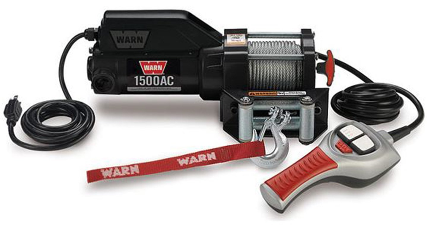WARN 85330 1500AC 120V Electric Utility Winch-1,500 lbs. Capacity by WARN