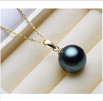 collier perle noire chaine argent