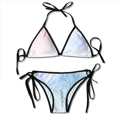 Hipiyoled Bikini para Mujer Resumen Low Poly1 Patrón Dirt ...