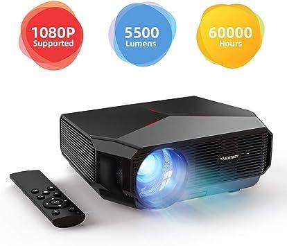 Proyector Portátil, SLANWIN Video Proyector 5500 Lumens 720P Nativo Soporte 1080P LCD Cine en Casa con Altavoces de Alta fidelidad Compatible con TV Stick/Portatil/Laptop/Reproductor de DVD/PS4: Amazon.es: Electrónica