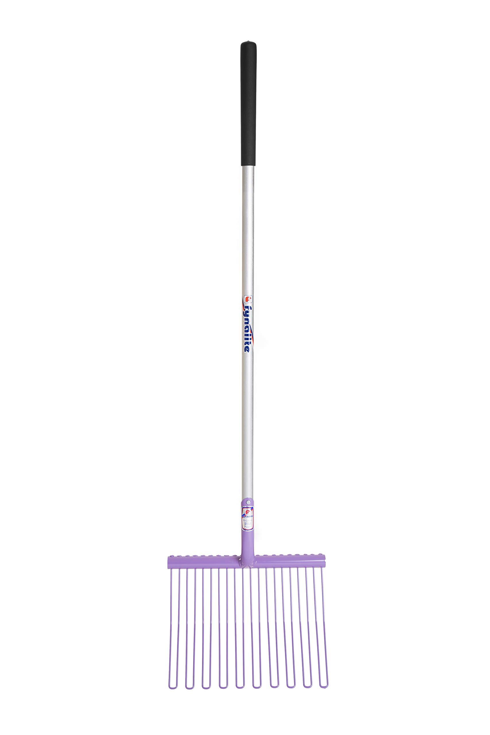 Fyna-Lite Rubber Matting Fork (3.9ft) (Long Wood Handle (RMLPURP)) by Fyna-Lite