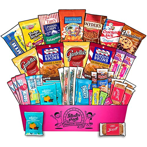 ULTIMATE snack box | 40 | sampler | food basket | assortment | college snacks | office snacks | work snacks | birthday present | military | care package | fathers day | finals week | package snacks d ()