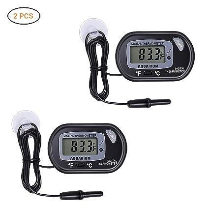 Mallalah Termómetro Digital para Acuario, Temperatura del Acuario