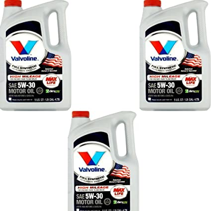 Valvoline 5W-30 Full Synthetic High Mileage Motor Oil - 5qt (813531) (