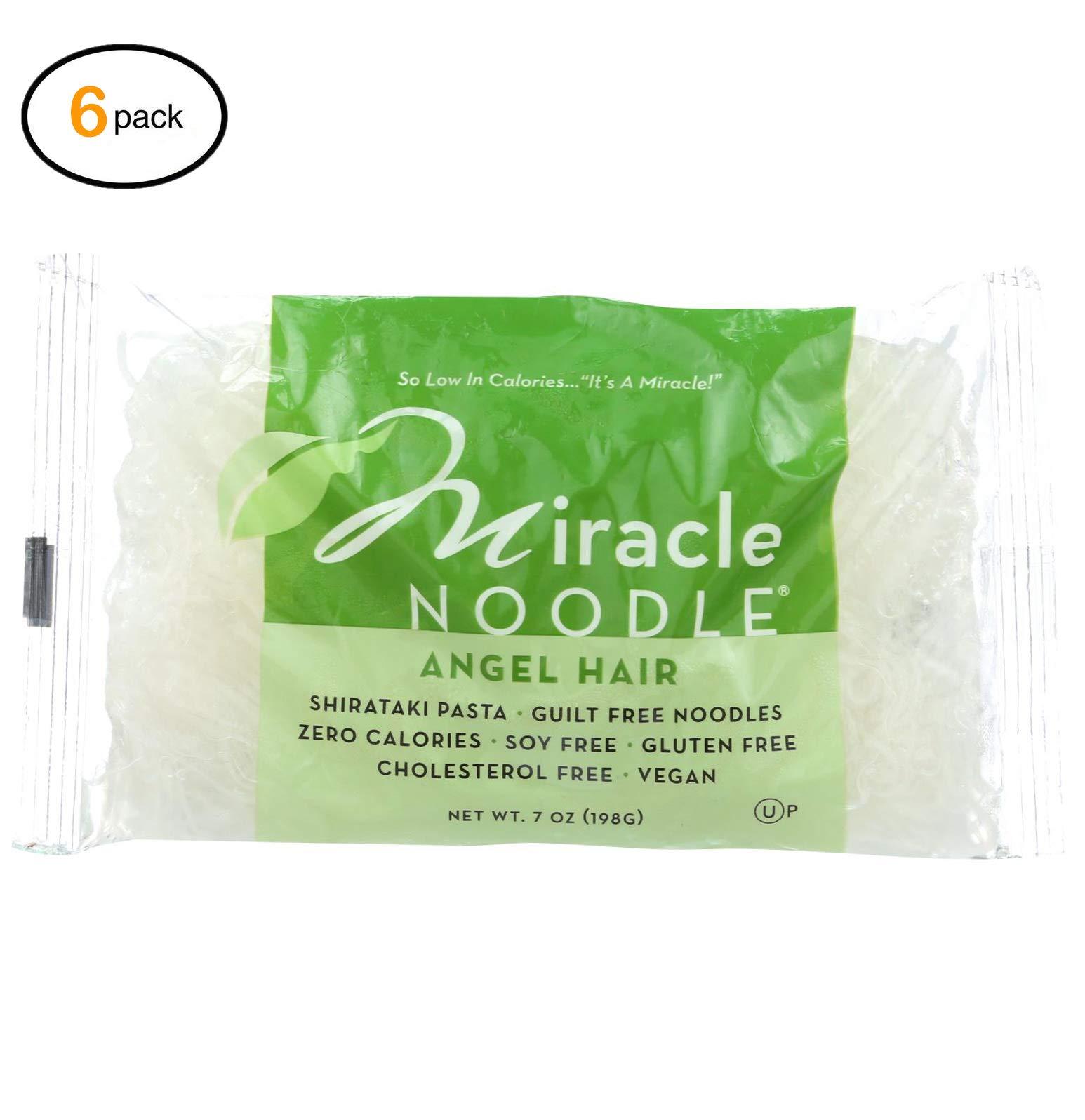 Miraclе Nооdlе Pasta - Shirataki - Miraclе Nооdlе - Angеl Hair - 7 оz - casе оf 6 - Bulk Buy by Miraclе Nооdlе