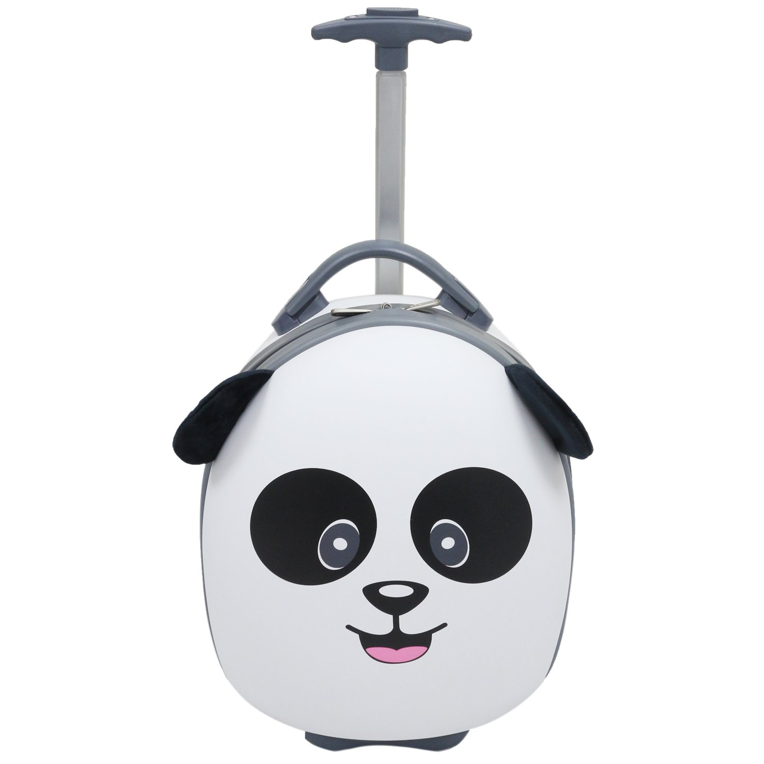 "Emmzoe Kids & Toddler 15"" Carry On Animal Trolley Hardshell Luggage - Lightweight EVA, Dent Proof, Adjustable Handle for Age 2+ (Papa Panda Bear)"