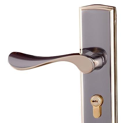 Aleación De Titanio De Oro Negro Bloquear Cerraduras Interiores Dormitorio Cerradura De La Puerta Manija Rodamientos