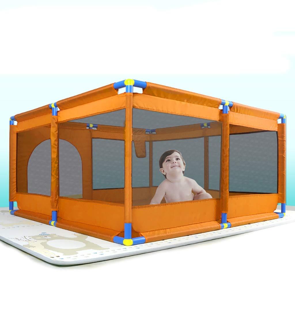赤ちゃんの子供の遊びのフェンスのフェンス単純なクロールの幼児のフェンスの屋内遊び場のおもちゃの家128 * 128 * 66cm (色 : C)  C B07G3VVQ5M