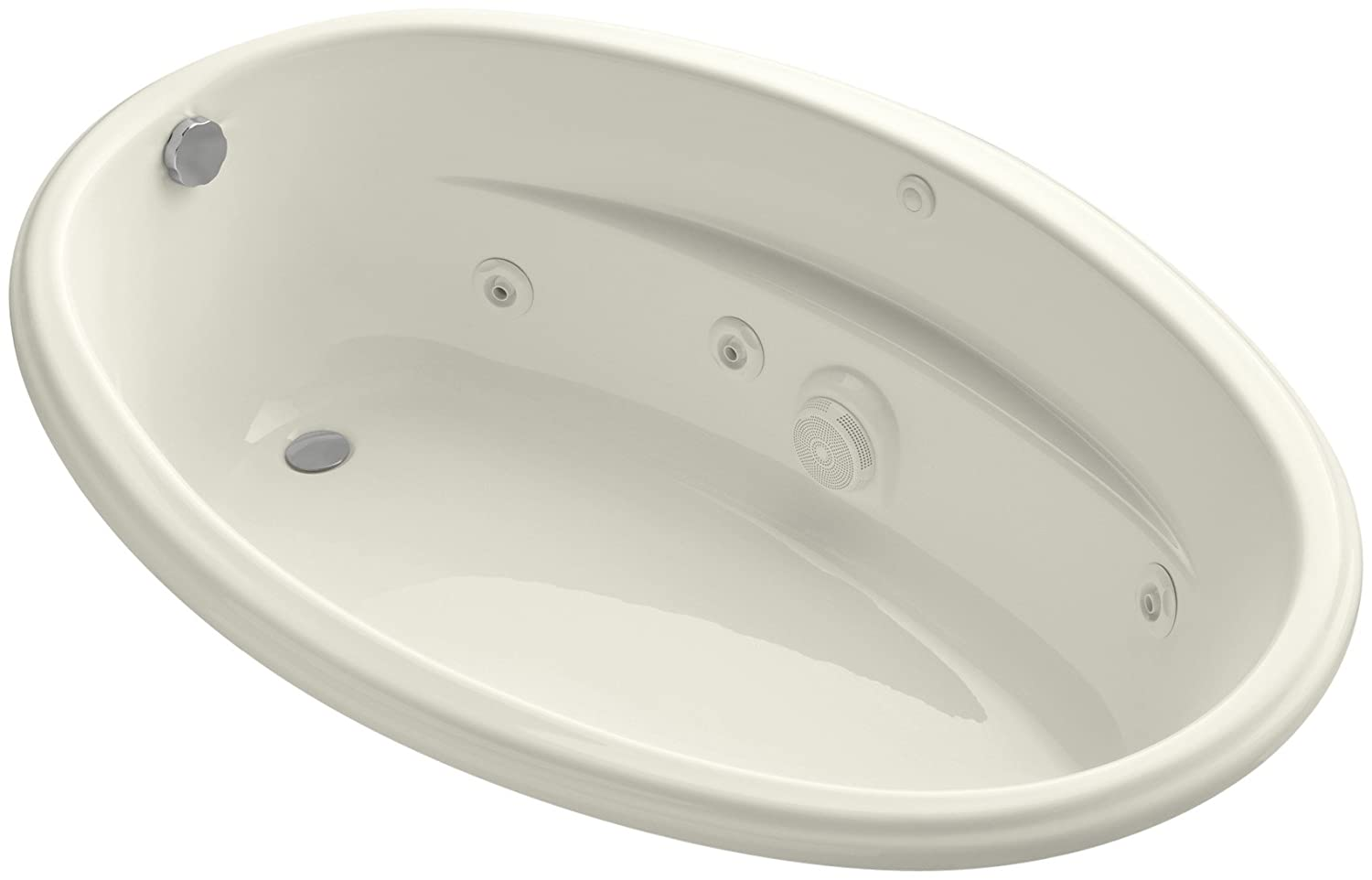 KOHLER K-1146-0 6040 Oval Whirlpool, White - Freestanding Bathtubs ...