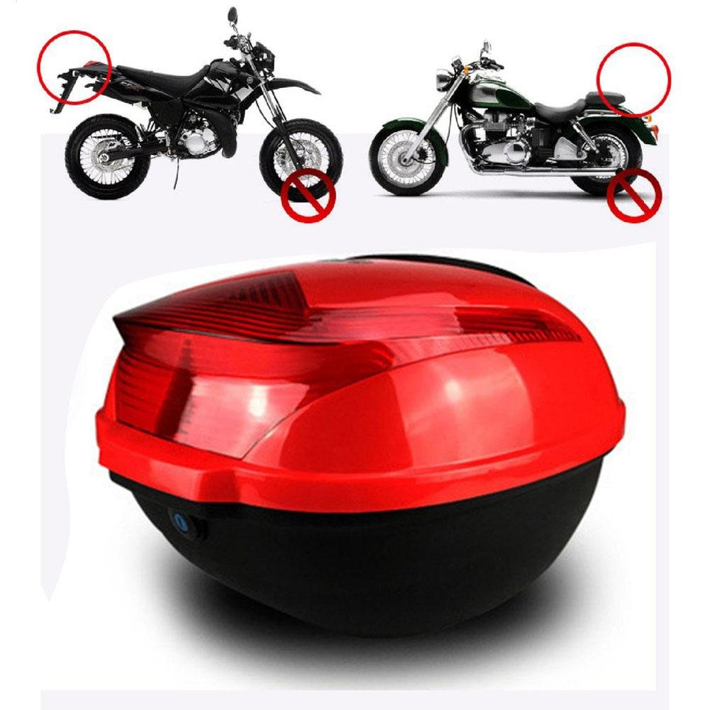 Generp Motorcycle Chest Safe, Motorcycle Tail Box,Shockproof Universal Large Capacity Quad Scooter Electric Chest With Safety Lock Top Cases, 3 Colors