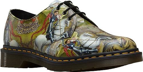 Dr Martens Unisex 1461 George & Dragon 3-Eye Leather Lace Up Shoe-Multi