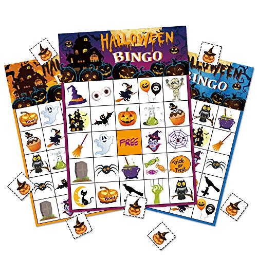 10 Halloween Games (Halloween Bingo Game Party Supplies For Kids 24)