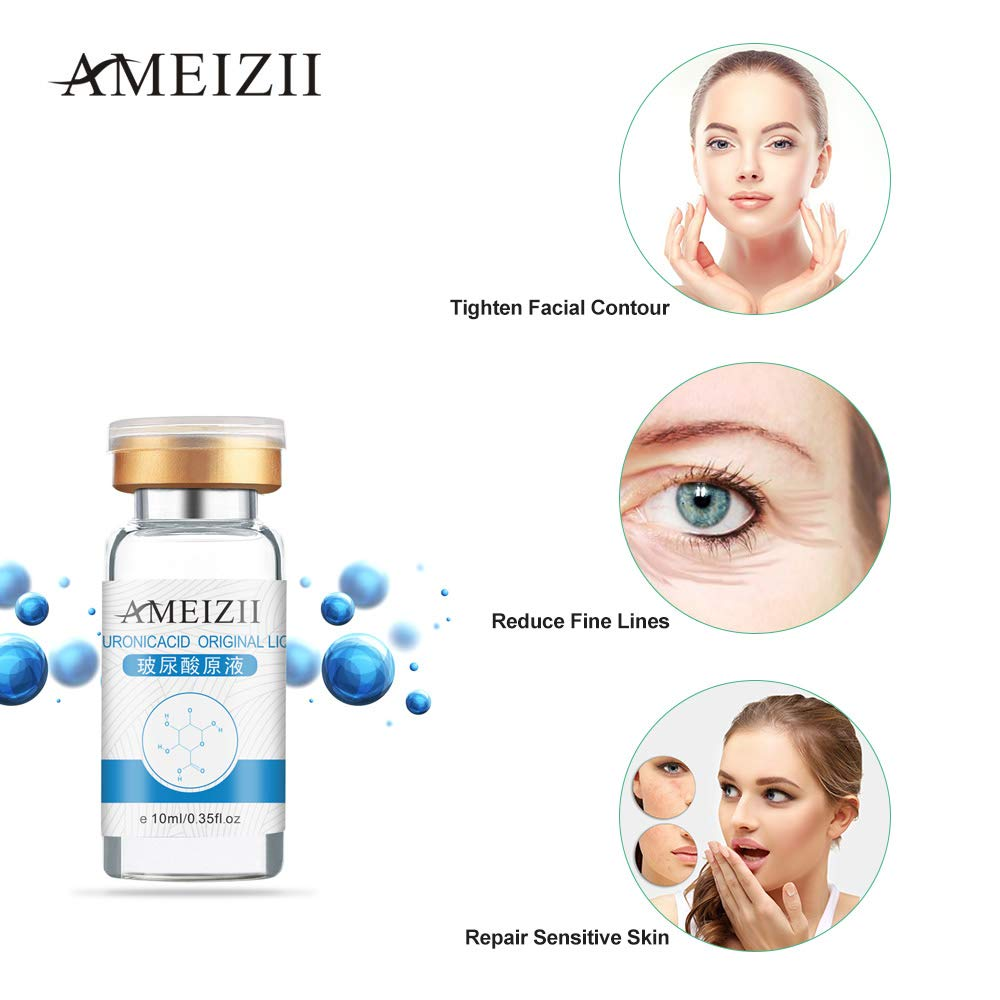 AMEIZII 10ml Hyaluronic Acid Serum Serum Moisturizer For Skin Color Brightening Essence Liquid by Anself (Image #2)