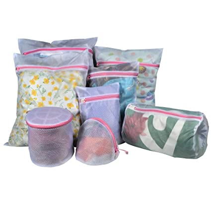 Amazon Com Techoss Mesh Laundry Bags Set Of 8 1 Large 3 Medium