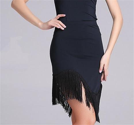 peiwen Danza de la Mujer Latina Falda de Flecos/más Color ...