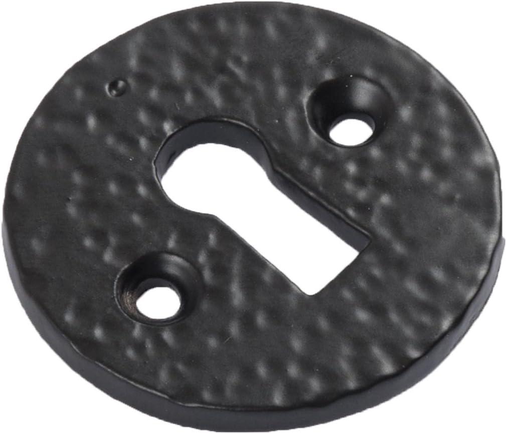 Bridewell Ironmongery Black and Cast Iron Escutcheon Plates Keyhole Cover New