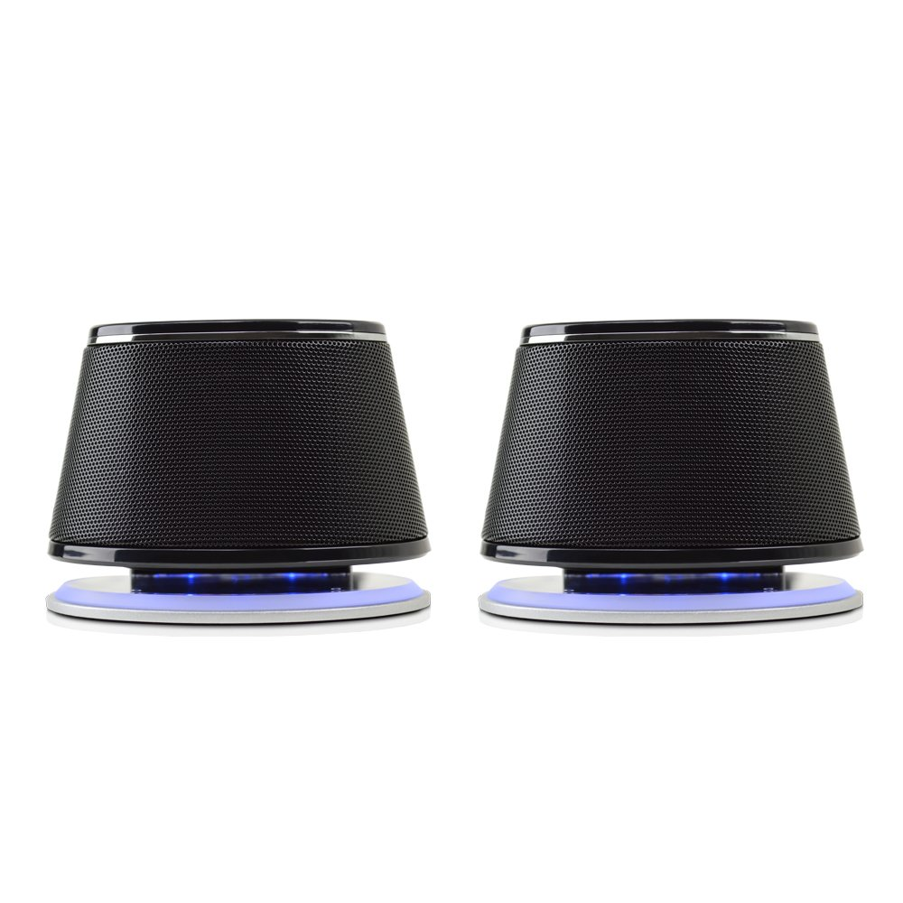 Satechi Dual Sonic Speaker 2.0 Channel Computer Speakers for iMac, 2015 MacBook Pro, MacBook Air, Dell, HP XPS, Sony, Samsung, Asus and more (Black) by Satechi (Image #2)