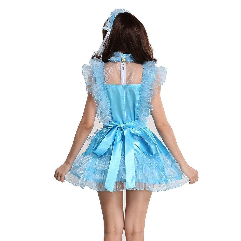 Gocebaby Lockable Sissy Maid Satin Organza Light Blue Puffy Dress ...