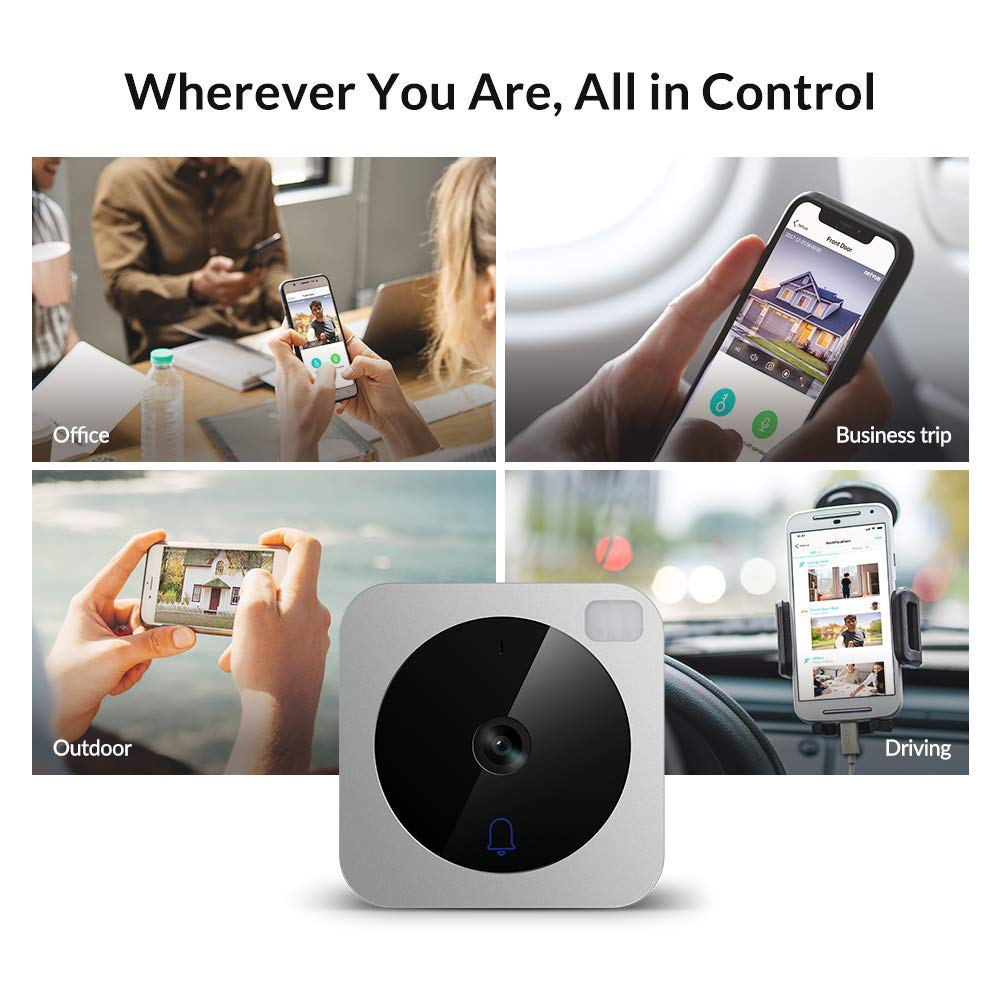 Wifi Camera Doorbell, NETVUE HD Wireless Video Doorbell Camera with