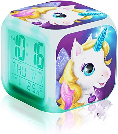 Licorne Lumière Nuit Enfants Enfants Filles Mignon chambre Glow Batterie Mignon Glow cadeau