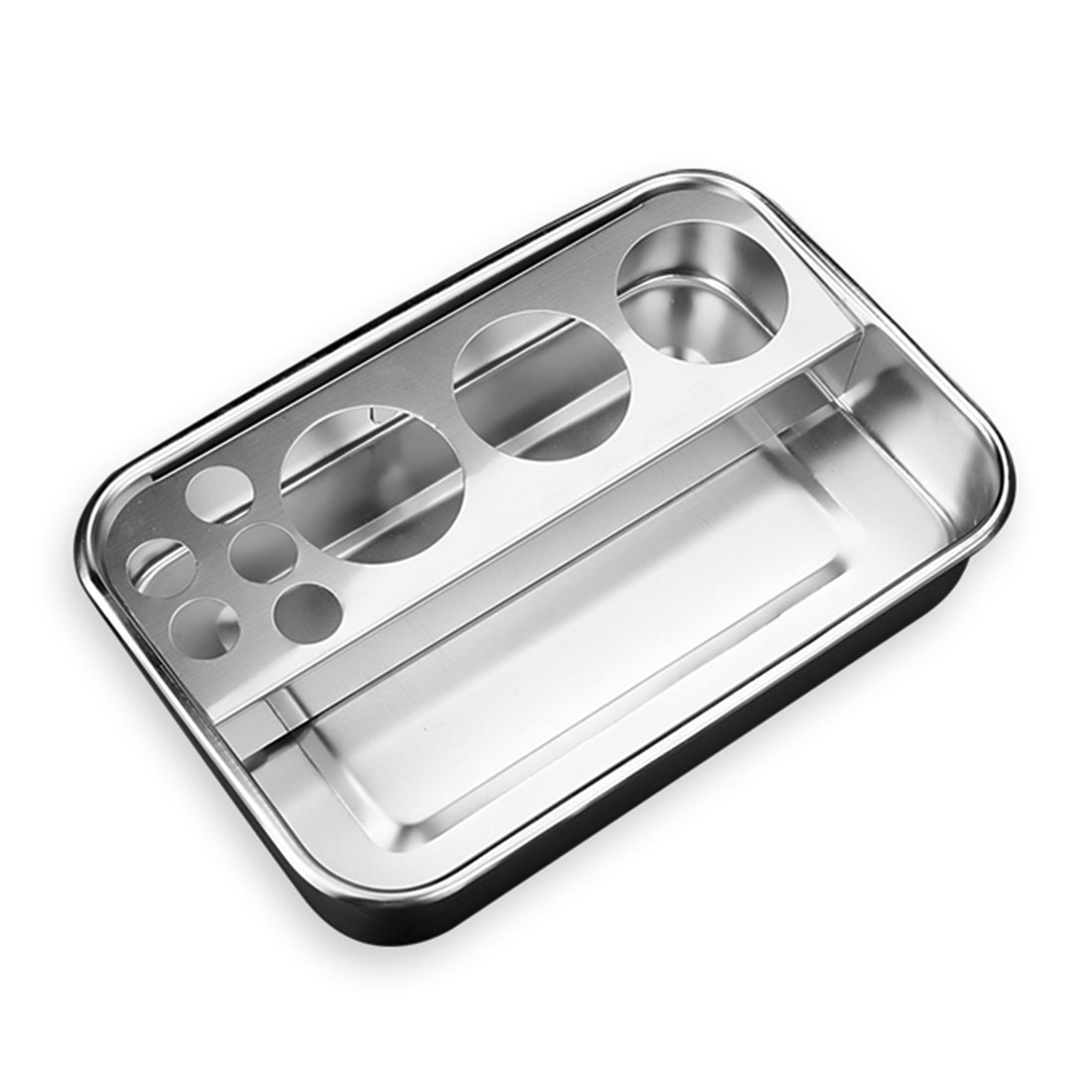 Stainless Steel Tray Medical Dental Instrument Organizer Lab Beauty Salon Tools Holder