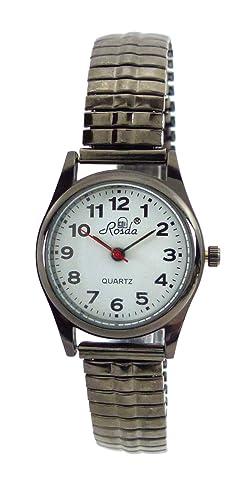Relojes Reloj De Mujer Pequeño Negro Números Grandes Reloj de pulsera para él y ella con Flex acero pulsera S de Black: Amazon.es: Relojes