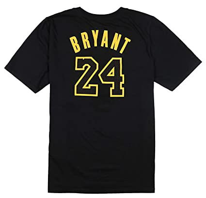 972b8d9b5a0 Amazon.com  Nike Youth Los Angeles Lakers Kobe Bryant Retired Player T-Shirt  Medium Black  Sports   Outdoors