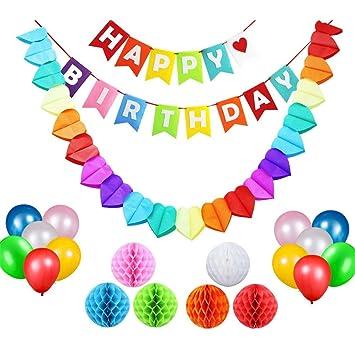 18 PCS Decoraciones para Feliz Cumpleaños ,GZQ,Adorno ...