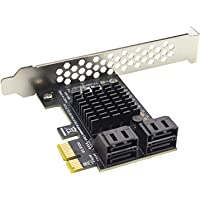 Goutui SATA PCI e Adapter 4 Poorten SATA 3.0 naar PCI Express x4 Uitbreidingskaart SATA3.0 PCIe PCI-e SATA Controller…
