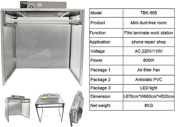 YUCHENGTECH Taller de sala libre de polvo Flujo laminar Campana Banco Banco Flujo de aire Estación de trabajo limpia Estación de trabajo libre de polvo Banco limpio: Amazon.es: Bricolaje y herramientas