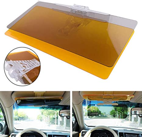 LHAO Car Visors Driving HD Windshield Extender Day Night Vision Anti-UV Anti-Dazzle Eye Protector Sunscreen 2 in 1 for perfect driving visibility