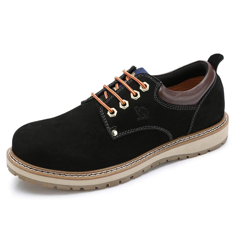 CAMEL CROWN Men's Work Boots 2018 Cowhide Leather Ankle Martin Boots Fashion Casual Soft Toe Men's Shoes