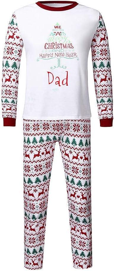Trisee Conjunto de Pijama Familia de Navidad para Hombre ...