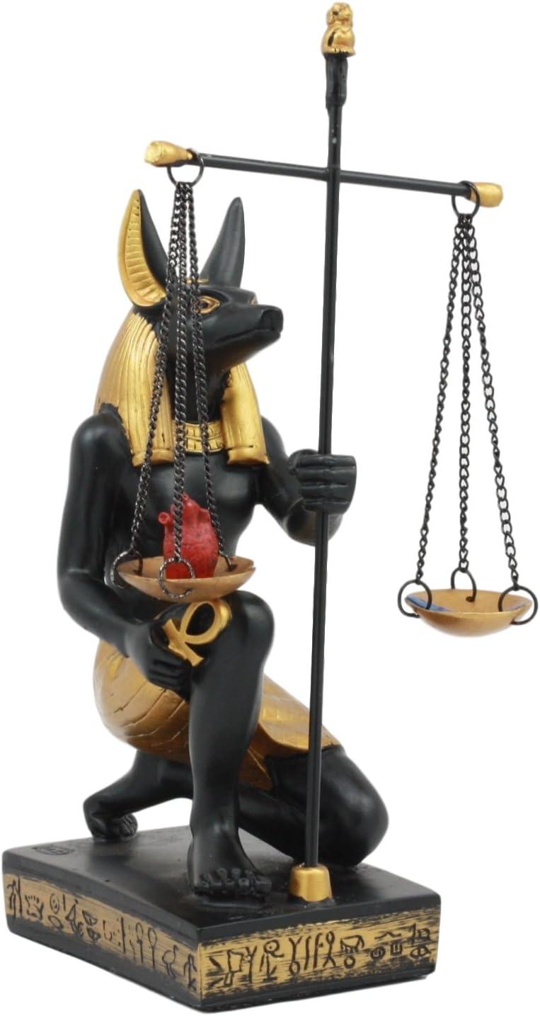 Ancient egipcio Anubis dios de la posvida con escalas de la justicia figura: Amazon.es: Hogar