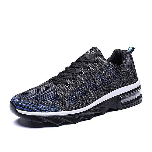 Zapatillas de Deporte Aire Libre Hombre Zapatos de Running Gimnasio Transpirable Malla Sneakers Negro 39-47: Amazon.es: Zapatos y complementos